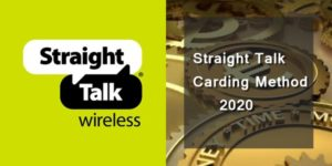 Straight Talk Carding Method 2020