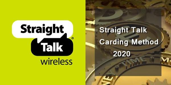 Straight Talk Carding Method 2020